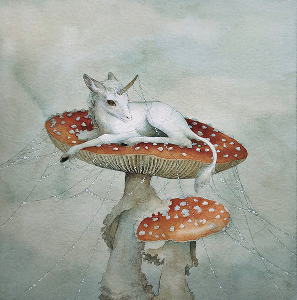 Lily Seika Jones - Waking on Toadstools Print