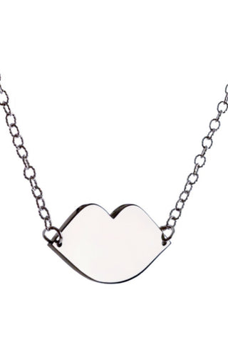 CLASSIC KISS LARGE PENDANT-silver