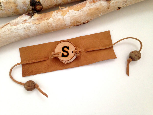 Birch Wood Leather Bracelet