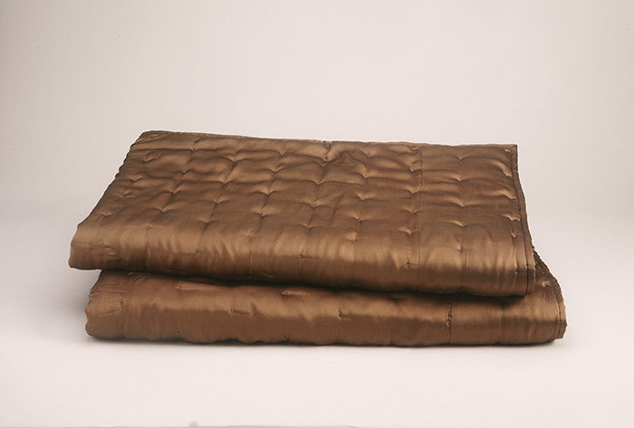 DIMPLES SILK CHARMEUSE THROW