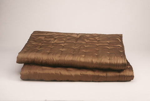 HAMMERED CHARMEUSE QUILT WITH COTTON BACKING