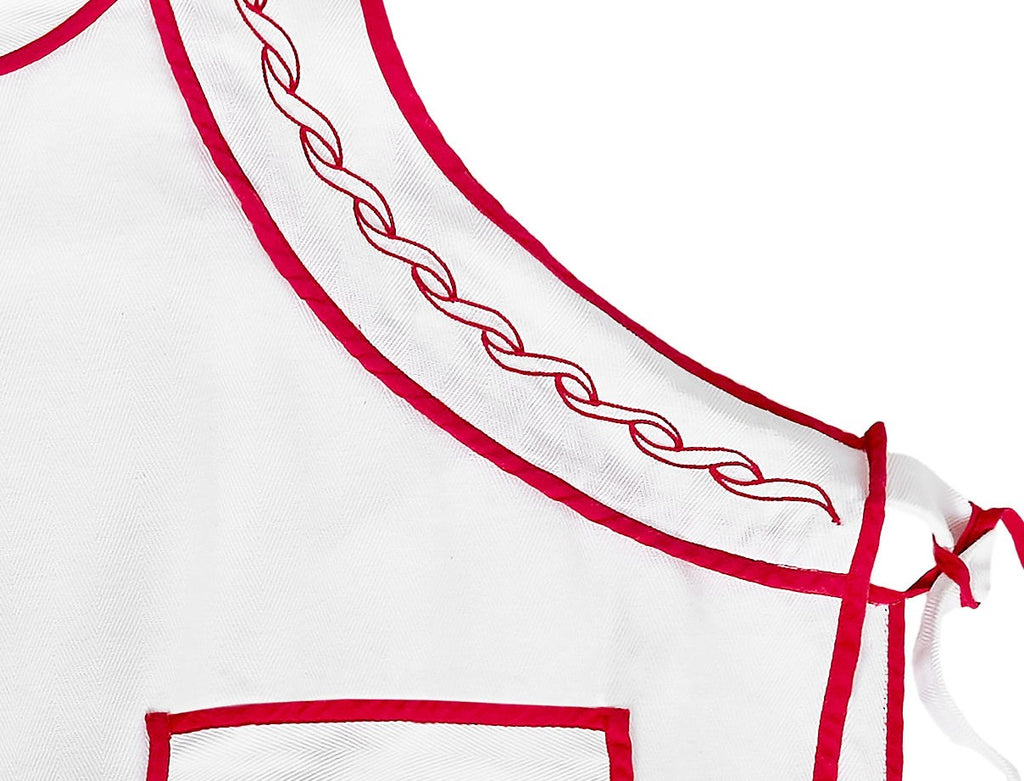 WHITE APRON - SIDE TIES