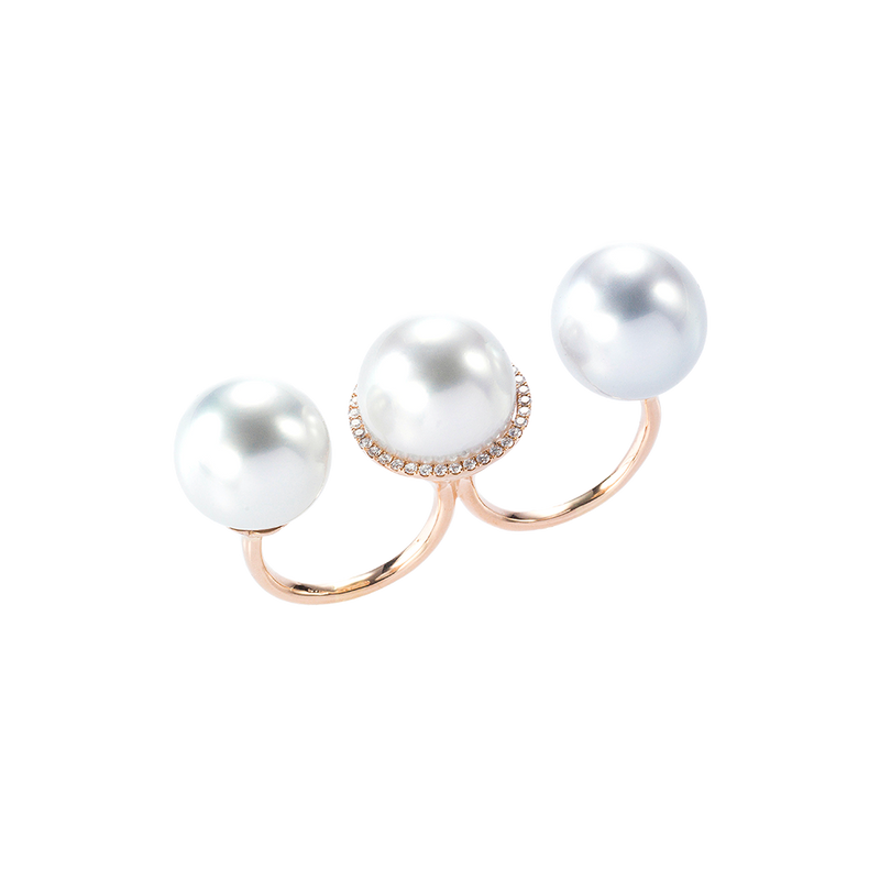 Brooke Triple Pearls Ring