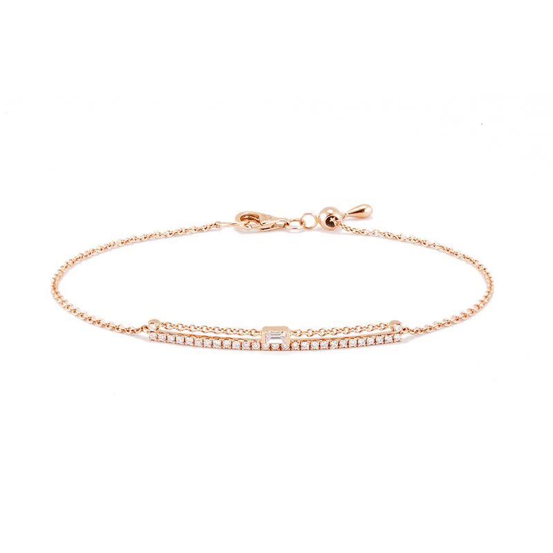 Rectangular Frame and Chain Bracelet