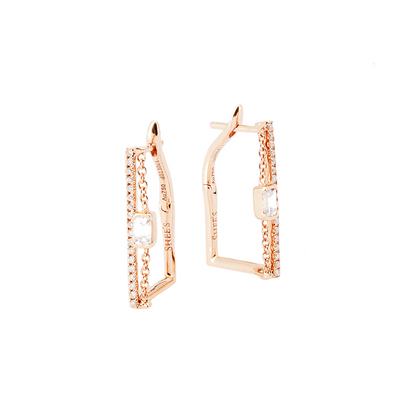 Polygon and Chains Earrings