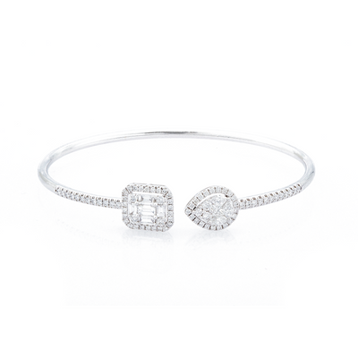Double Diamond Tranquility Bangle