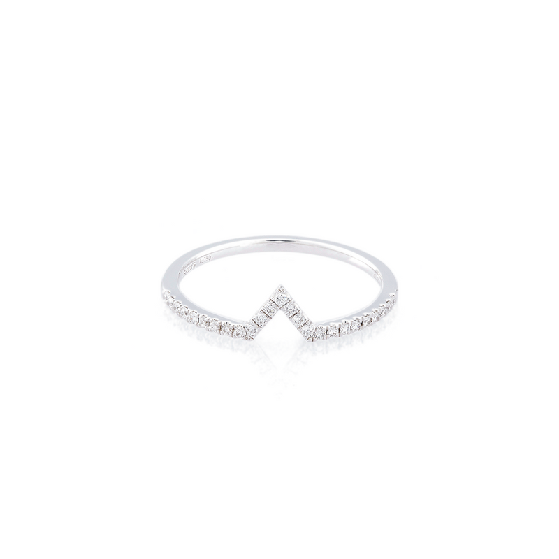 V-Shaped Eternity Ring