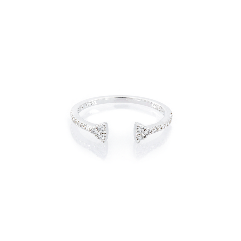 Double Prism Tranquility Ring