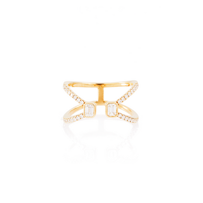Double Polygon V-Shaped Ring
