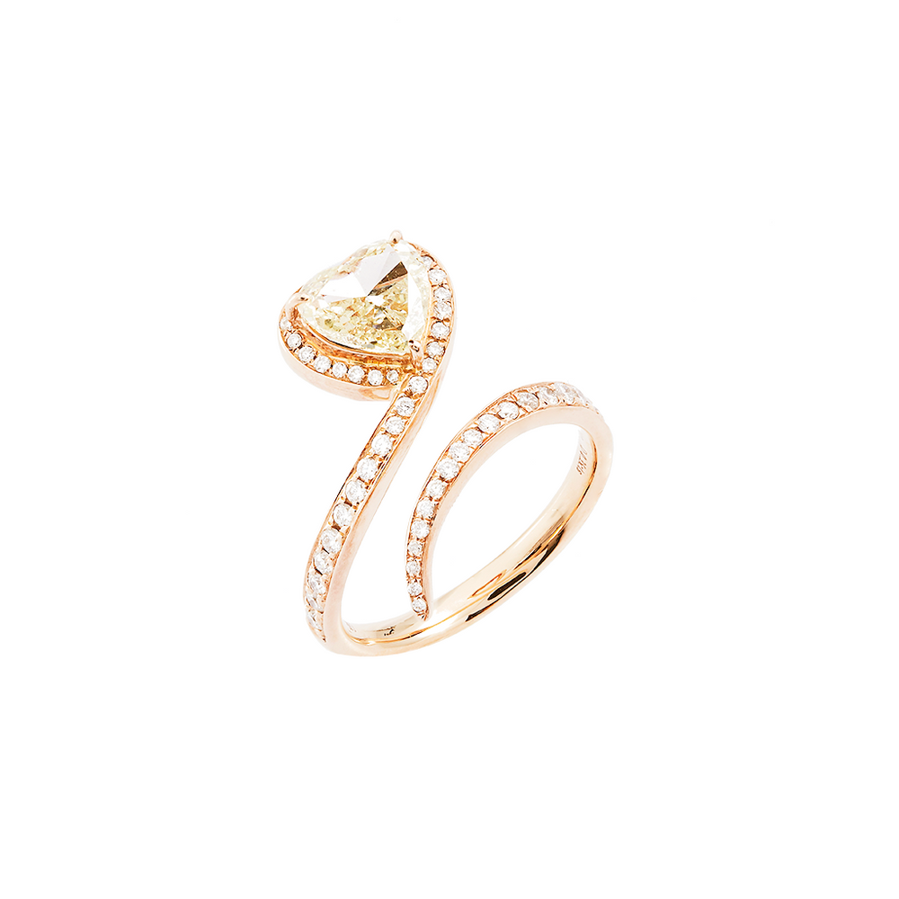 Yellow Diamond Heart Ring