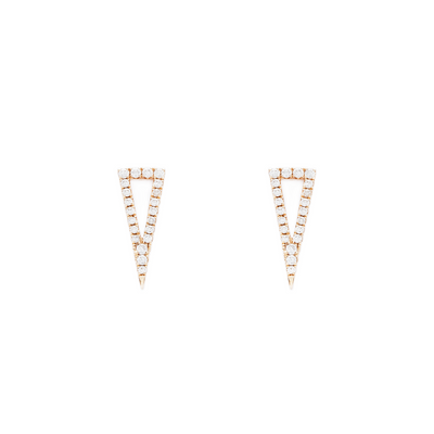Elongated Pyramid Earrings