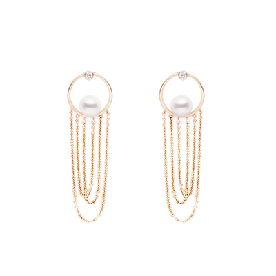 Lynn Pearls and Chains Earring