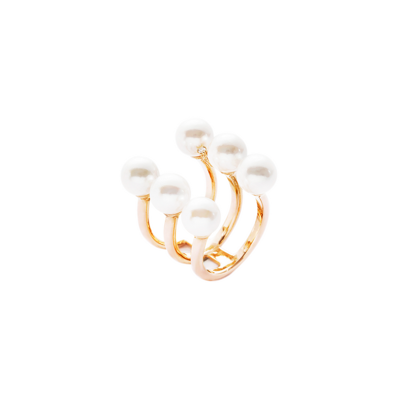 Moana Pearls Line Up Ring