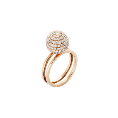 Double Sphere Stackable Ring