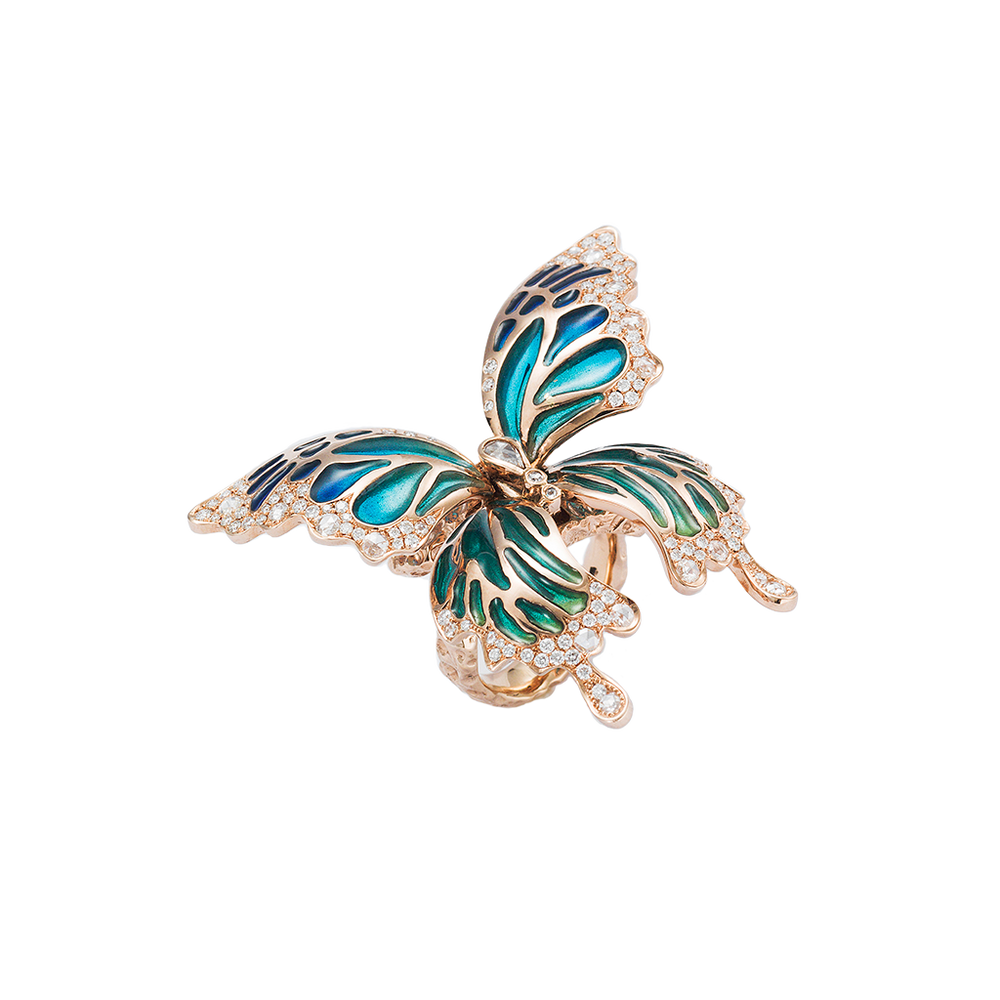 Chrysalis Butterfly Ring