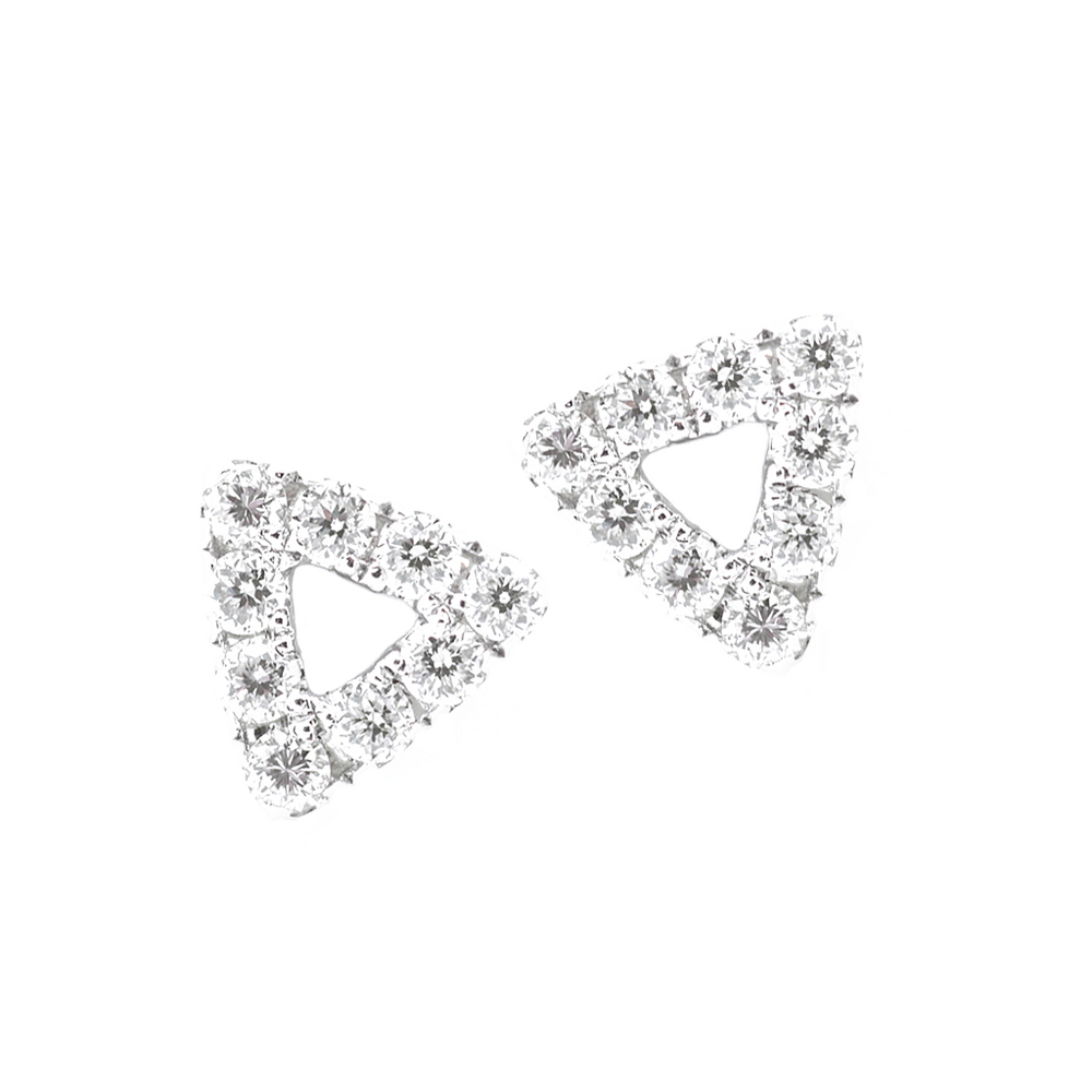 Open Prism Stud Earrings