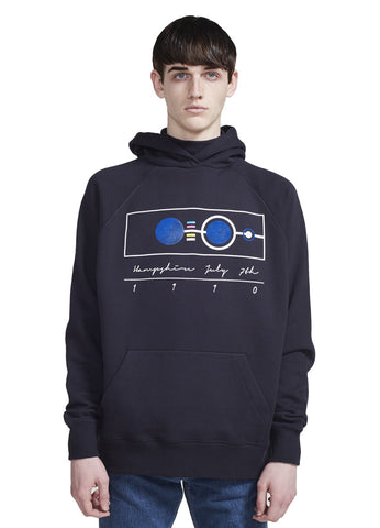 HOODED TURTLENECK SWEATSHIRT
