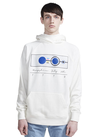 HOODED TURTLENECK SWEATSHIRT W PRINT