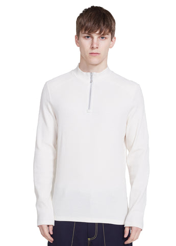 LONG SLEEVE ZIP MOCKNECK