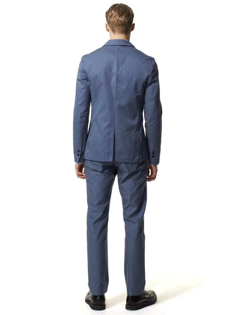 Cadet Blue Unstructured Blazer
