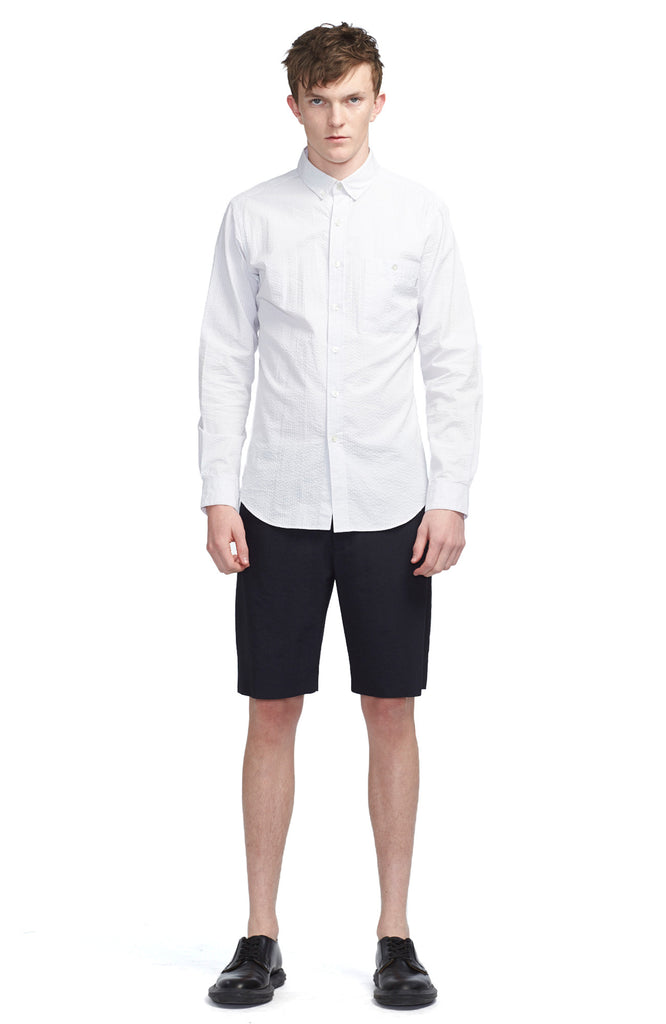 Seersucker Button Collar Shirt