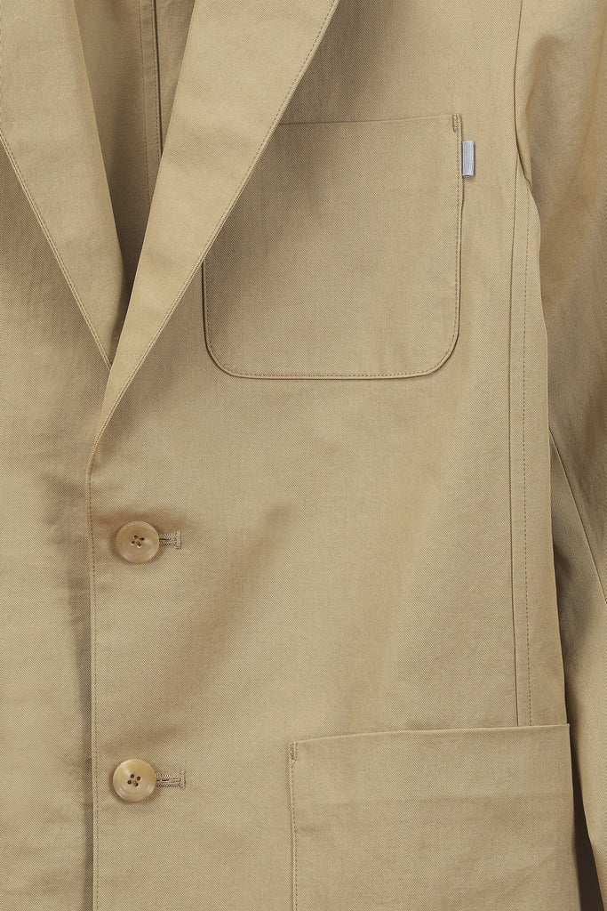 Khaki Unstructured Blazer