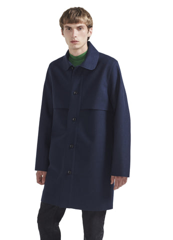MAC OVERCOAT IN NAVY WOOL