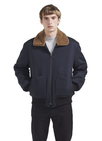 FLIGHT BOMBER WITH REMOVABLE MOHAIR COLLAR