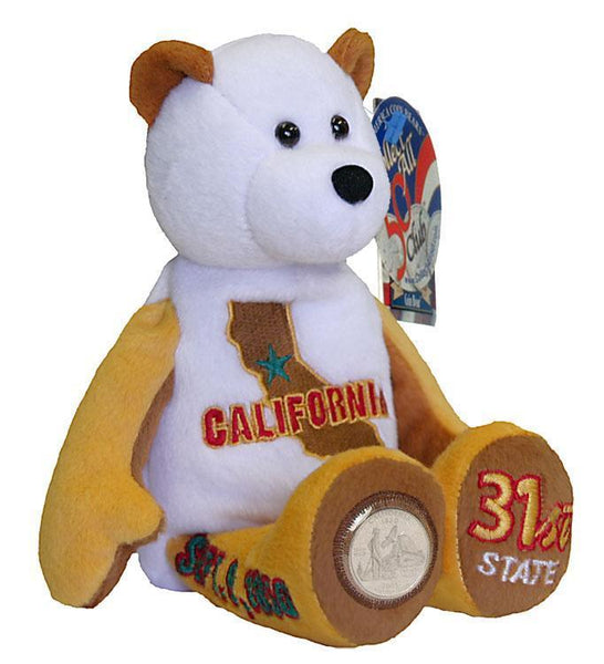 All 5 State Coin bears from 2005 CA MN OR KS and WV