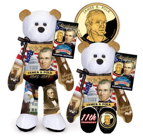 James K Polk Dollar Coin Bear