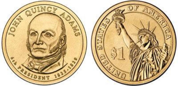 F- #6 John Quincy Adams Dollar Coin bear