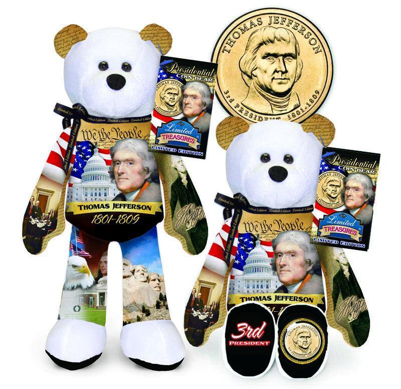 C - #3 Thomas Jefferson Dollar Coin bear
