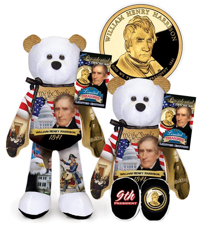 I - #9 William Henry Harrison Dollar Coin bear
