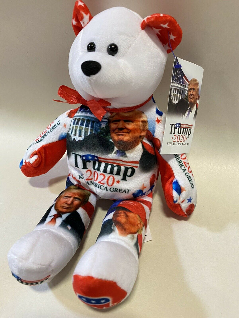 Qty of 2 Donald Trump 2020 Limited Edition Re-election Campaign Teddy Bears