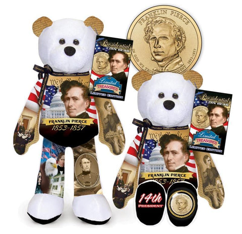 Franklin Pierce Dollar Coin bear