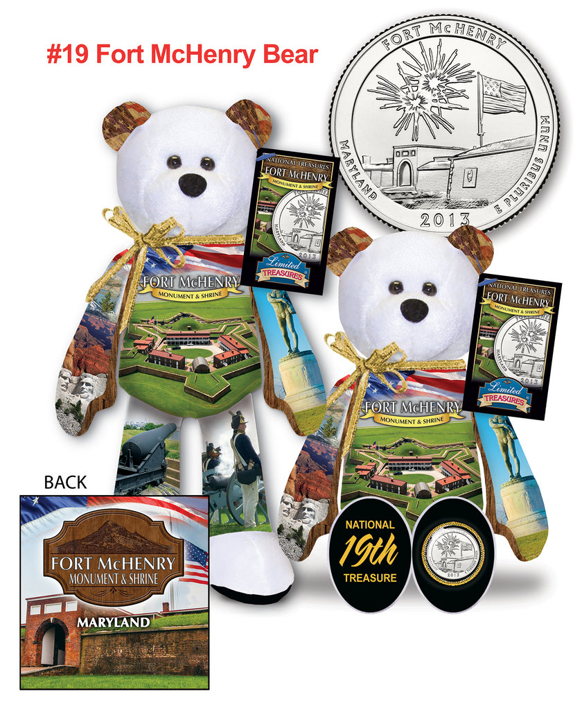 Fort McHenry Maryland National Park Quarter bear