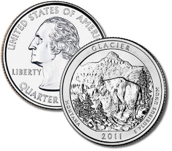#7 Montana Glacier National Park Quarter bear part of the America the Beautiful Series