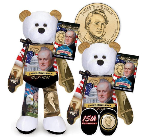 James Buchanan Dollar Coin bear