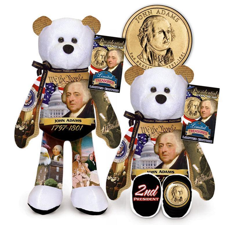 B - #2 John Adams Dollar Coin bear