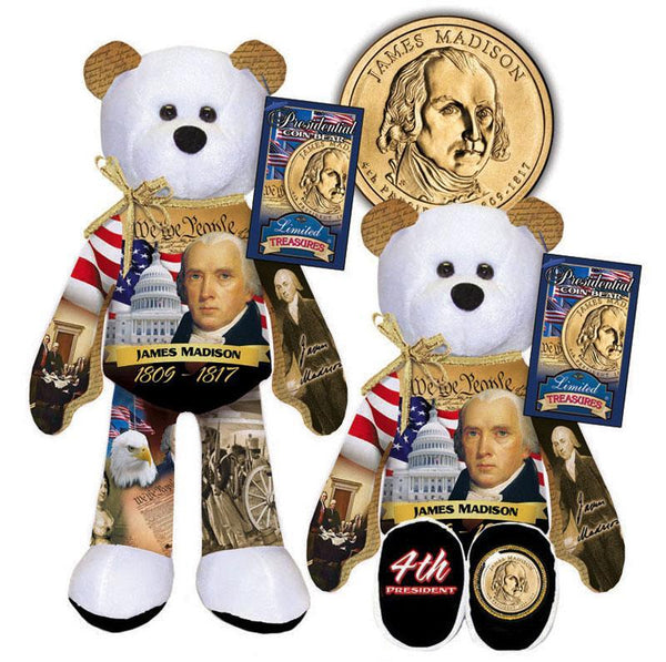 D- #4 James Madison Dollar Coin bear