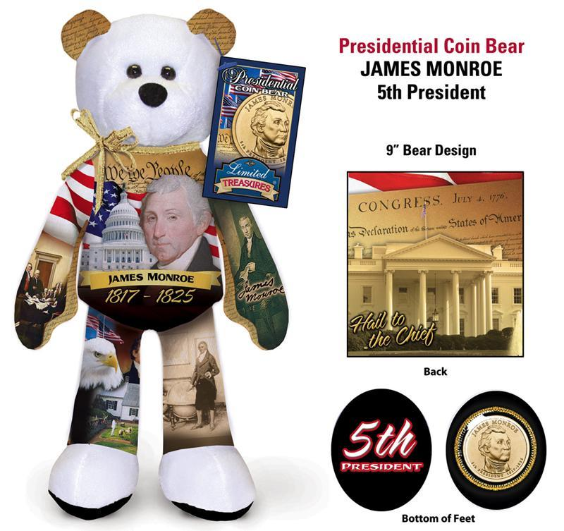 E- #5 James Monroe Dollar Coin bear