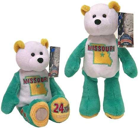 All 5 State Coin bears from 2003 IL AL ME MO and AR