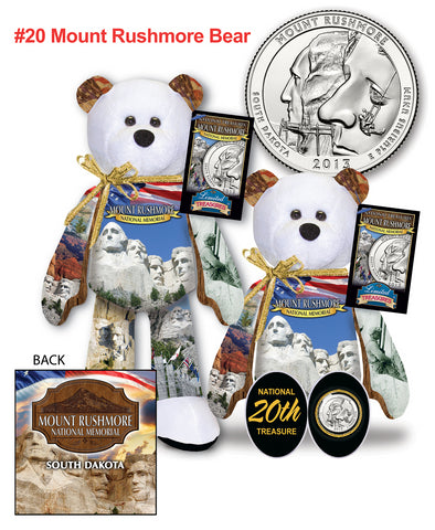 Mount Rushmore South Dakota National Park Quarter bear