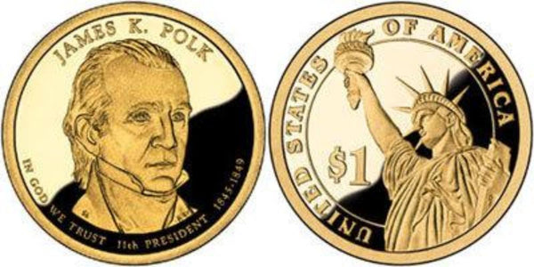 James K Polk Dollar Coin