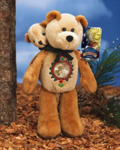 Sacagawea and Baby Pomp Dollar Coin bear