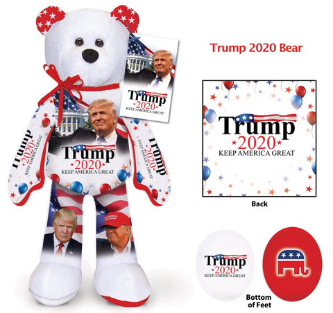 Qty of 10 Donald Trump 2020 Limited Edition Presidential Campaign Collectible Bean Bears