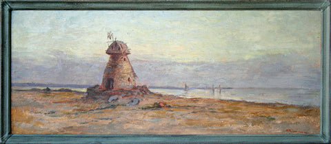 """The Old Lighthouse, San Diego Bay"" By Artist: Ammi Merchant Farnham"