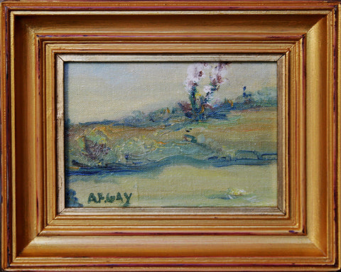 """Flowering Landscape"" By Artist: August Francois Gay"