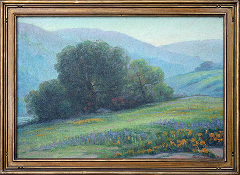 """Poppies and Lupines, Benedict Canyon"" By Artist: Carl Zimmerman"