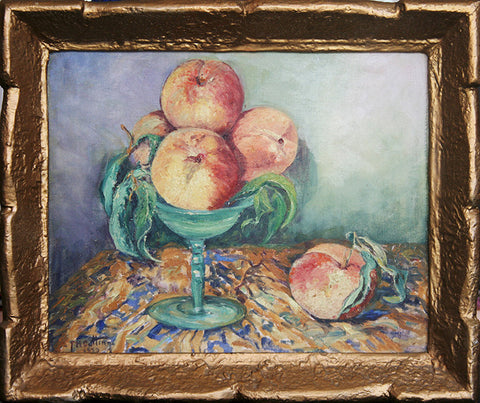 """Still life with Peaches"" By Artist: Francis H Cutting"